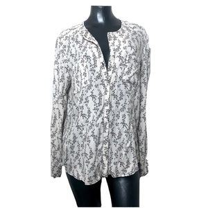 Peruvian Connection Pattern Button Up Blouse
